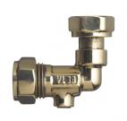 Angled service valve brass
